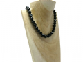 Faceted Black Onyx Bead Medium Chunky Sterling Silver Necklace | Silver Sensations